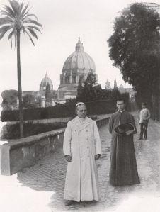 Piux XI in the Vatican Gardens